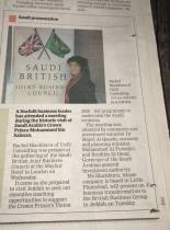 EDP coverage of Special Saudi British Joint Business Council Meeting